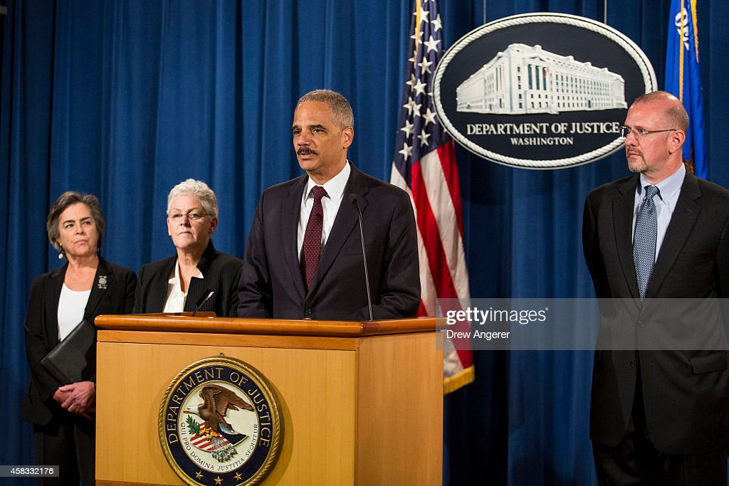 Holder And EPA Administrator McCarthy Announce Clean Air Act Settlement