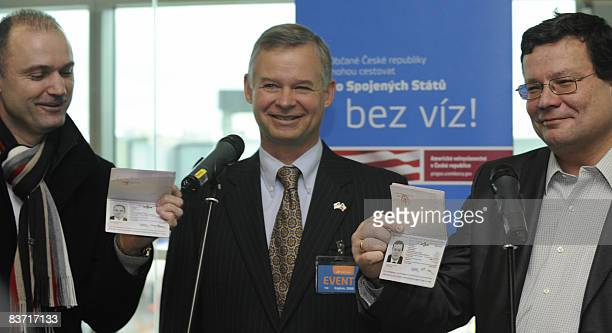 Czech Interior Minister Ivan Langer US Ambassador to the Czech Republic Richard Graber and Czech Deputy Prime Minister for European Affairs Alexandr...
