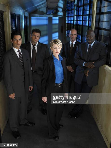 From Left Danny Pino Jeremy Ratchford Kathryn Morris John Finn and Thom Basrry star in the third season premiere of the CBS television series Cold...