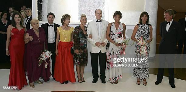 From left Daugther of Princess Ann de Massy Princess Antoinette of Monaco sister of Rainier of Monaco son of Princess Ann of Massy Princess Ann de...