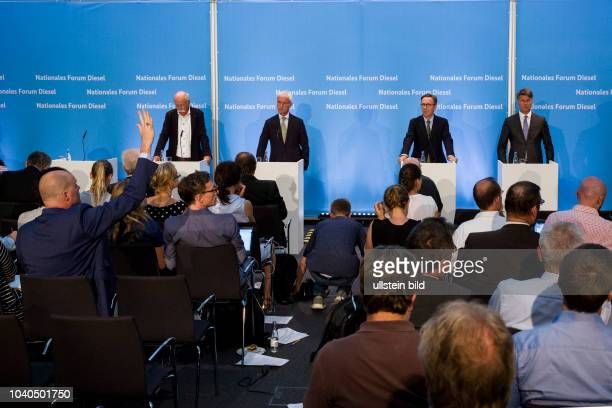 Dieter Zetsche Chief Executive Officer of Daimler Matthias Mueller CEO of Volkswagen Matthias Wissmann President of the Automotive Association VDA...