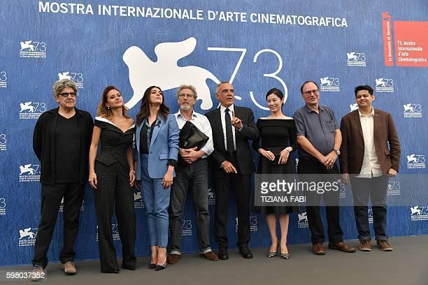 director Jose Maria Prado Egyptian actress Nelly Karim Italian actress Valentina Lodovini French director and president of the jury Orizzonti Robert...