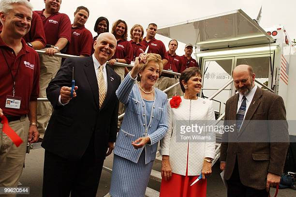 From left Dr Tom Blackwell from Carolinas HealthCare System Rep Robin Hayes RNC Sen Elizabeth Dole RNC Rep Sue Myrick RNC and Rick Cantwell form...