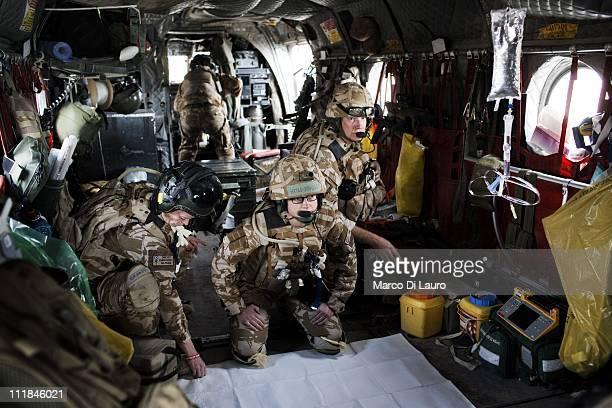 From left: Emergency Nurse Commanding Officer of the MERT, FLT LT Fiona McGlynn, 37-years-old from the Selly Oak Hospital in Birmingham and MERT...