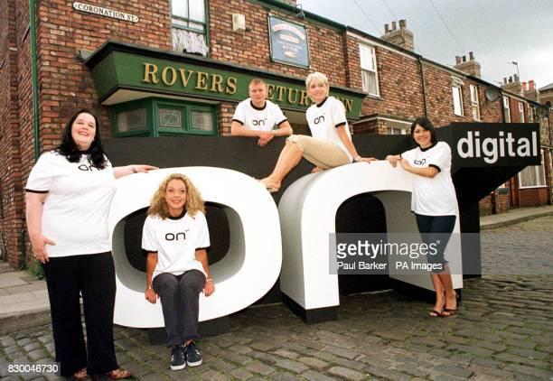 From left, Emmerdale's Mandy Dingle , Coronation Street's Lorraine and Ashley Peake , Eastenders Cindy Beale and Emmerdale's Kelley Windsor get...