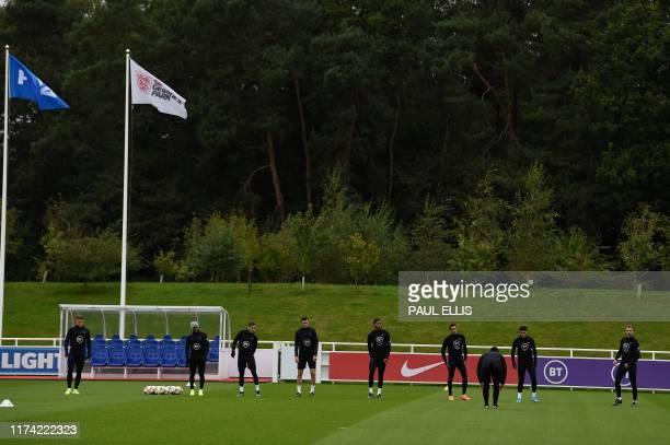 England's midfielder Ross Barkley England's defender Danny Rose England's midfielder Harry Winks England's defender Michael Keane England's defender...