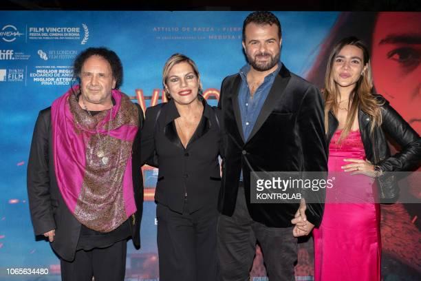 From left Enzo Avitabile Cristina Donadio Eduardo De Angelis and Pina Turco at the presentation of the drama 'Il vizio della speranza' directed by...