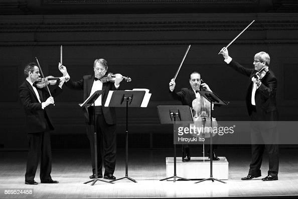 From left, Eugene Drucker, Philip Setzer, David Finckel and