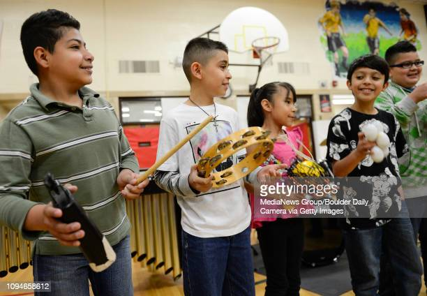 Fifth grader Obed Gamboa third grader Luis Rocha second grader Damaris Corchado fourth grader Fermin Orozco and fourth grader Alexis Garcia...