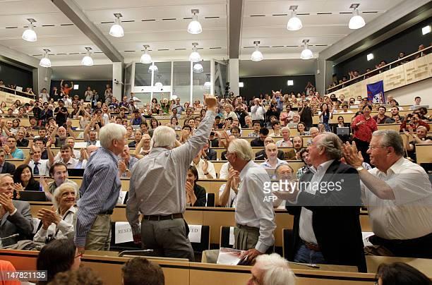 Former European Organization for Nuclear Research DirectorGenerals Christopher LlewelynSmith CERN scientific director Lyn Evans Herwig Schopper...
