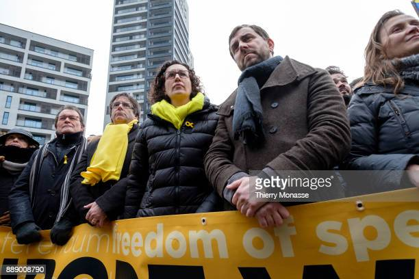 From Left Former President of the Generalitat of Catalonia Artur Mas Ousted Catalan leader Carles Puigdemont General Secretary of the Republican Left...