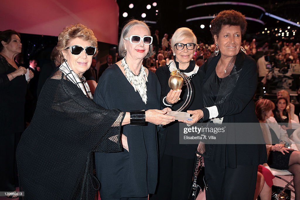 From left, Franca Fendi, Anna Fendi, Paola Fendi and Carla Fendi attend Premio Belisario 2013 at Dear RAI studios on June 20, 2013 in Rome, Italy.