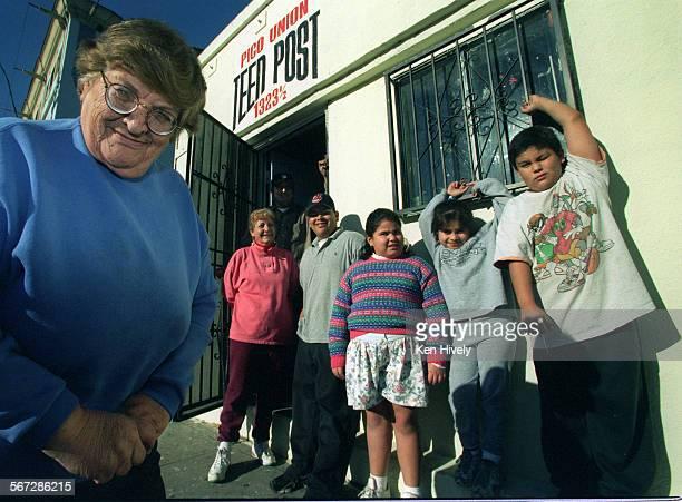 From left, Frances Roman, Director of Pico Union Teen Post, Concepcion Vega, Assistant Director, Jose Luis, George Marquez, Erika Godina, Heidie...