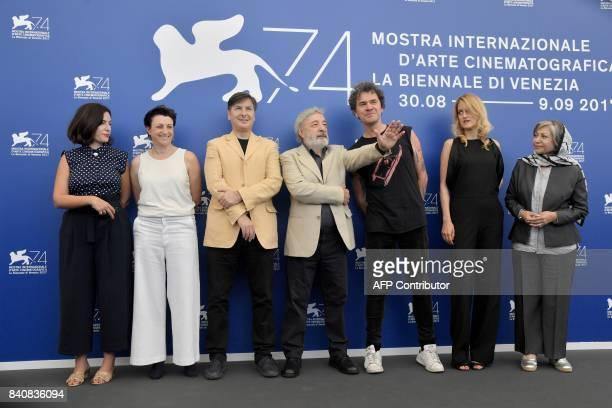 French director Rebecca Zlotowski, US director Ami Canaan Mann, screenwriter Andres Duprat, president of the jury Orizzonti Gianni Amelio, British...