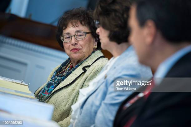 From left full committee ranking member Rep Nita Lowey DNY subcommittee ranking member Rep Lucille RoybalAllard DCalif and subcommittee chairman Rep...