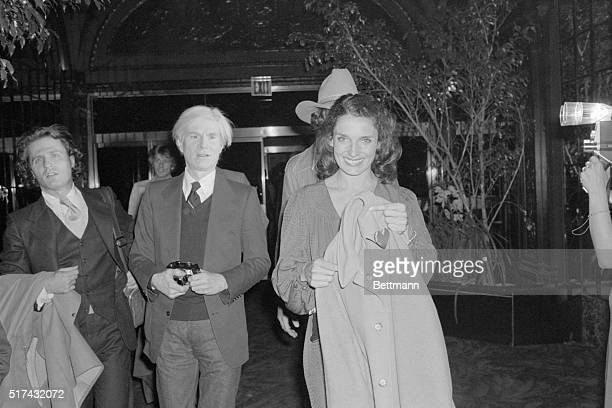 Gerard Malanga Andy Warhol and Canadian First Lady Margaret Trudeau at a disco in April 1978