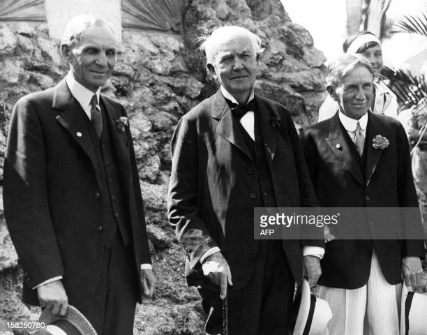 Henry Ford founder of the huge US motor dynasty Thomas Alva Edison a pioneer in the field of the electricity and Harvey Firestone founder of a huge...