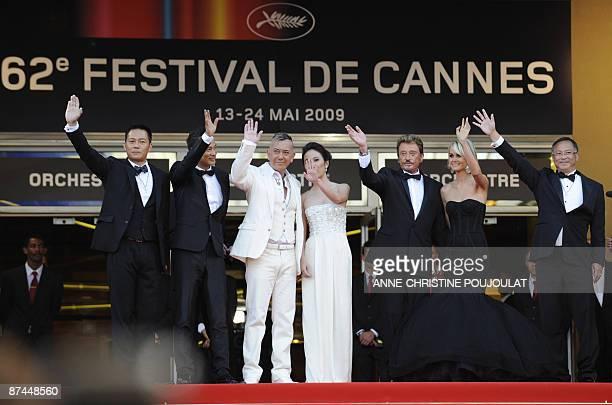 Hong Kong's actors SiuFai Cheung Simon Yam Anthony Wong ChauSang Michele Ye French actor and singer Johnny Hallyday and Hong Kong's director Johnnie...