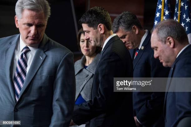From left House Majority Leader Kevin McCarthy RCalif House Republican Conference Chair Cathy McMorris Rodgers RWash Speaker Paul Ryan RWis Rep Darin...