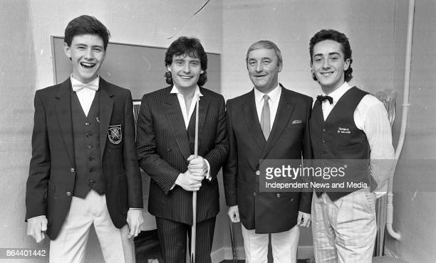 From left Ireland International Stephen Murphy Irish International Snooker Player Damien McKiernan and Star Snooker Player Jimmy White at the Richard...