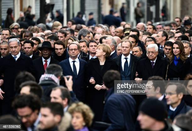 Israeli Prime Minister Benjamin Netanyahu Malian President Ibrahim Boubacar Keita French President Francois Hollande German Chancellor Angela Merkel...