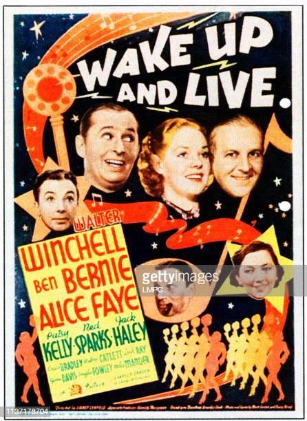 Jack Haley poster Ben Bernie Alice Faye Walter Winchell bottom from left Ned Sparks Patsy Kelly on midget window card 1937