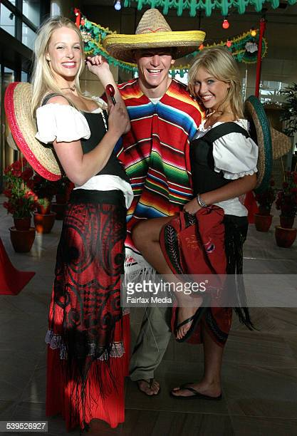 From left Jacqui Morris Leigh Carlson and Katherine Innes at the IMG Tennis BBQ held at Breezes Crown Casino January 20 2005 SUNDAY AGE SPY 2 Picture...