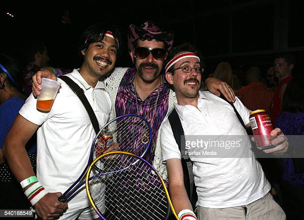 From left James Angsioco Raj Jadeja and Russell Sayers at the Movember Gala Party at Luna Park Milsons Point Sydney 29 November 2006 SHD Picture by...