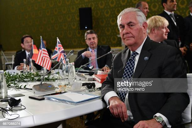 Japanese Foreign Minister Fumio Kishida German Foreign Minister Sigmar Gabriel US Secretary of State Rex Tillerson and British Foreign Secretary...