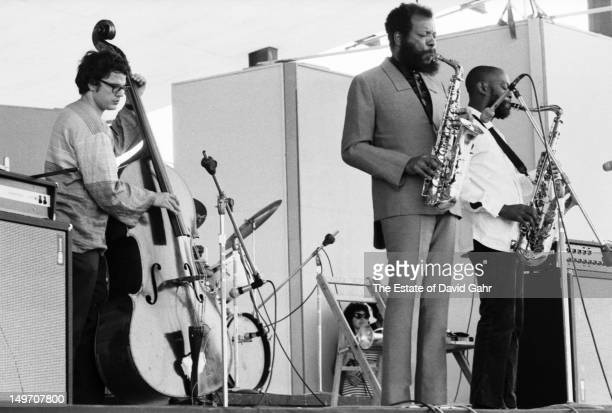 From left Jazz bassist Charles Haden saxophonist bandleader and composer Ornette Coleman and saxophonst Dewey Redman perform as the Ornette Coleman...