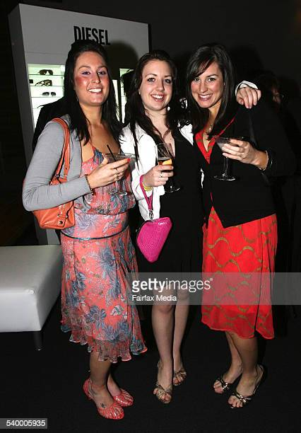 From left Jodi Schaffer Tanya Samson and Diana Weston at the Safilo sunglasses launch at the Mint Bar Sydney 28 June 2006 SHD Picture by JANIE BARRETT