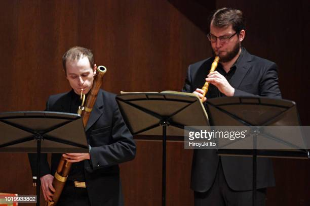 From left Joe Jones and Andrew Blanke play the music of Francois Couperin in the Juilliard School's Historical Performance L'Art de toucher le...