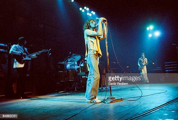 LYCEUM Photo of Roger DALTREY and The Who LR John Entwistle Roger Daltrey Pete Townshend performing live onstage on Quadrophenia tour