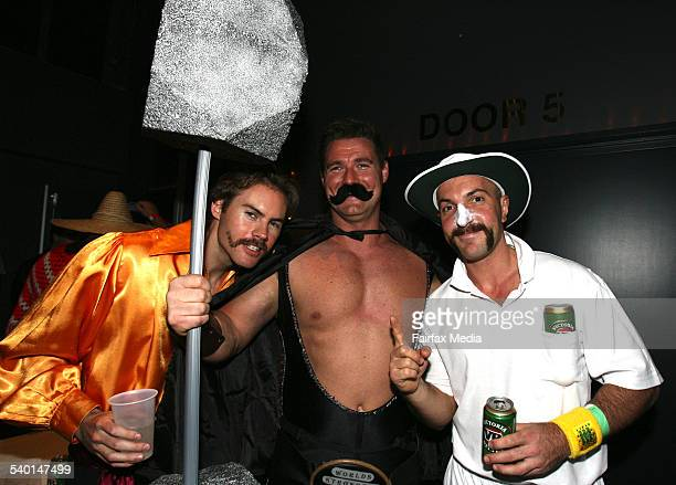 From left John Taylor Rick McDonald and Lex Tsagias at the Movember Gala Party at Luna Park Milsons Point Sydney 29 November 2006 SHD Picture by...