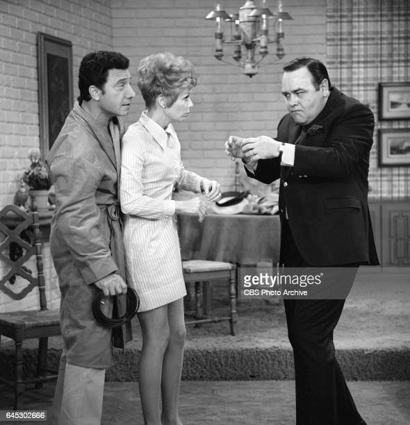 From left Johnny Seven Abby Dalton and Jonathan Edwards perform a skit on THE JONATHAN WINTERS SHOW Image dated March 18 air date was March 27 1968