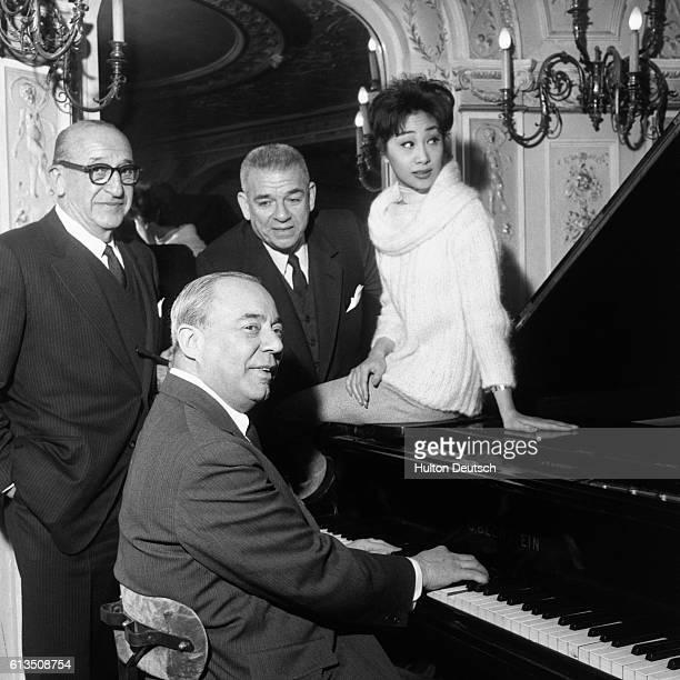 From left Joseph Fields Richard Rogers Oscar Hammerstein II and Yau Shan Tung