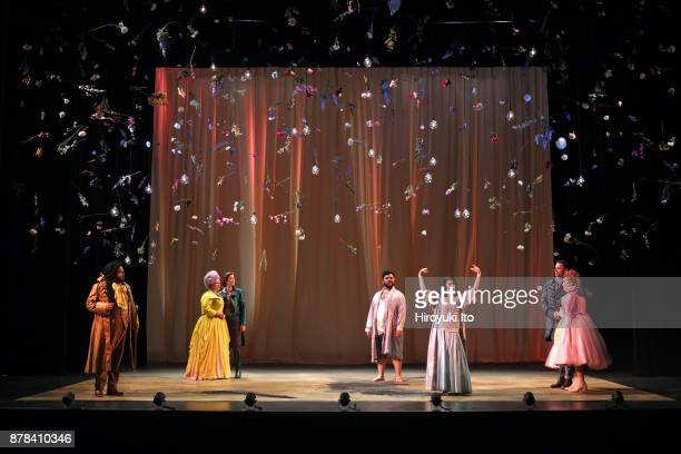 From left Joshua Blue Kathryn Henry Marie Engle Charles Sy Tamara Banjesevic Jacob Scharfman and Christine Taylor Price in Mozart's La finta...