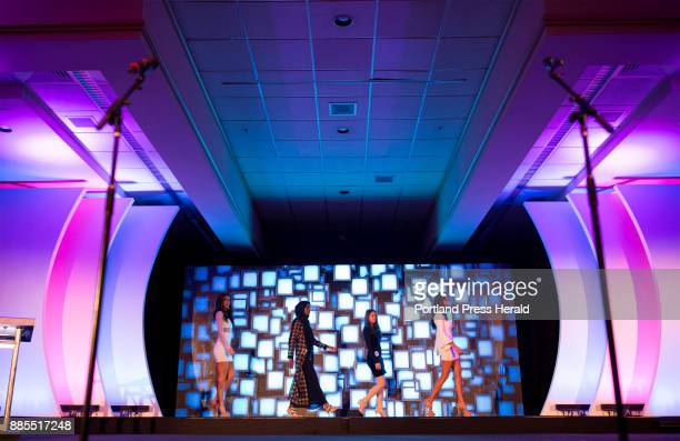 From left Kaitlyn Beckwith Hamdia Ahmed Loraine Aceto and Lindsay Abrams practice the opening number with their group before the first night of the...