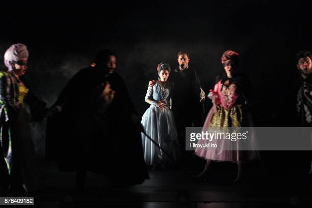 From left Kathryn Henry Joshua Blue Tamara Banjesevic Jacob Scharfman Christine Taylor Price and Charles Sy in Mozart's La finta giardiniera by the...