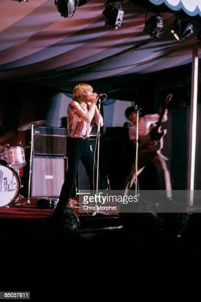 From left, Keith Relf and Jeff Beck of The Yardbirds perform live on stage at the 5th National Jazz and Blues Festival at Richmond in London on 6th...