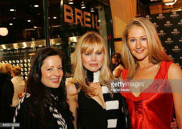 From left Kelly Smythe Karen Fischer and Alice Hocking at the Breil concept store launch QVB Sydney 13 July 2006 SHD Picture JENNY EVANS