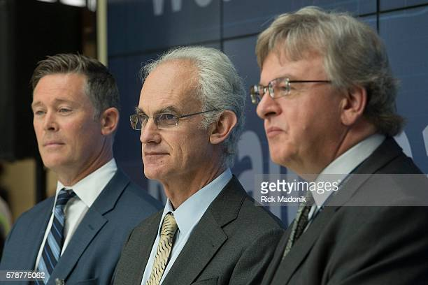 From left, Kieran Hawe, , Stanis Smith and Pat Neville . A new 50,000 square foot retail space at Terminal 3 of Pearson International Airport was...