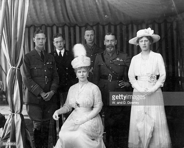 From left King George VI then Prince Albert Prince George Duke of Kent Queen Mary Prince Henry Duke of Gloucester King George V and Countess of...