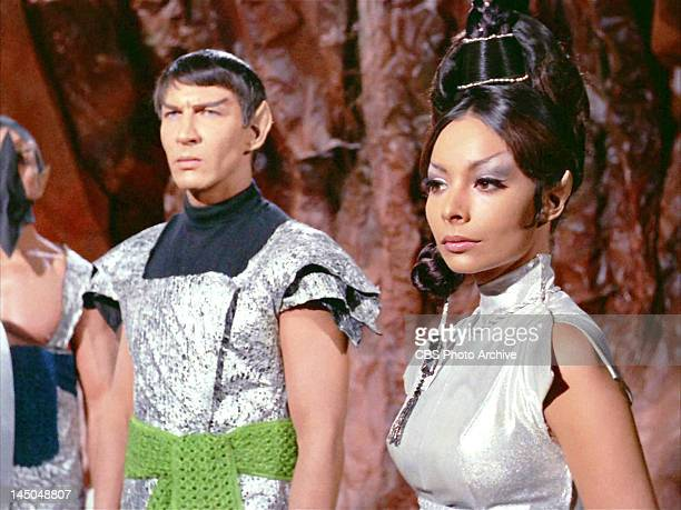 From left Lawrence Montaigne as Stonn and Arlene Martel as T'Pring both as Vulcans in the STAR TREK episode Amok Time Original airdate September 15...