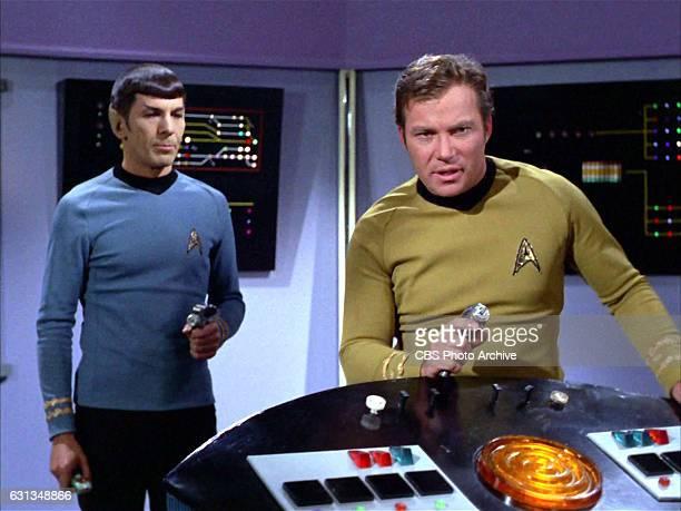 From left Leonard Nimoy as Spock and William Shatner as Captain James T Kirk on the Star Trek The Original Series episode Whom Gods Destroy...