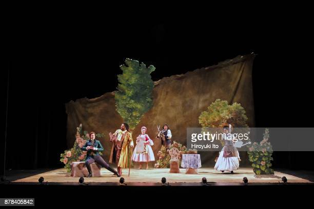 From left Marie Engle Joshua Blue Christine Taylor Price Jacob Scharfman and Tamara Banjesevic in Mozart's La finta giardiniera by the Juilliard...