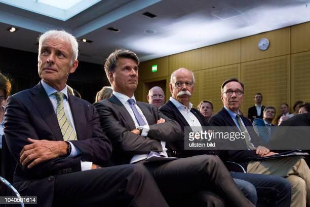Matthias Mueller CEO of Volkswagen Harald Krueger Chief Executive Officer of BMW Dieter Zetsche Chief Executive Officer of Daimler Matthias Wissmann...