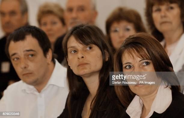 From left Michael and Sara Payne parents of murdered schoolgirl Sarah and Denise Fergus mother of murdered toddler Jamie Bulger at a press conference...
