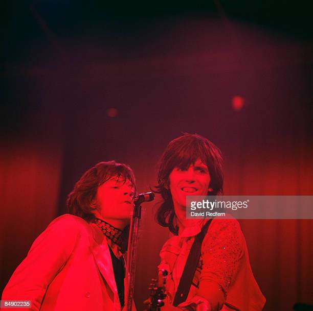 Photo of ROLLING STONES and Mick JAGGER and Keith RICHARDS Mick Jagger and Keith Richards performing on stage