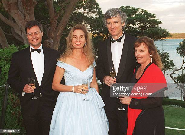 From left Minister for the Arts Michael Lee Annita Keating and playwright David Williamson and his wife Kristin at Admiralty House 10 February 1996...